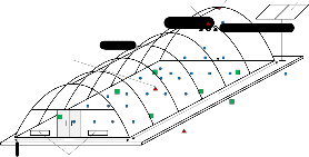 Experimental performance and modeling of a greenhouse