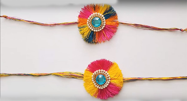 Rakhi-making at home