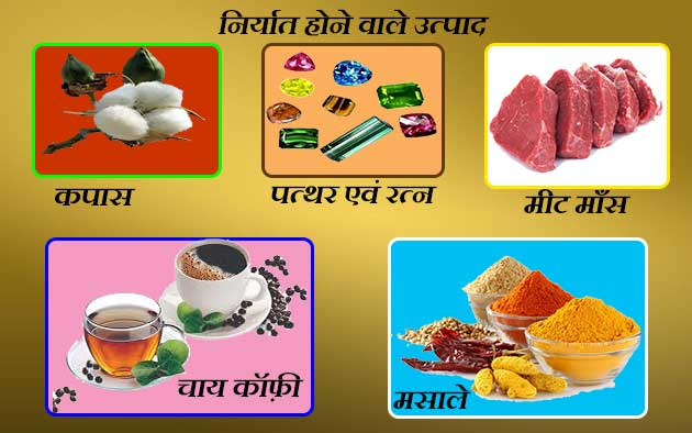 top exported products from India