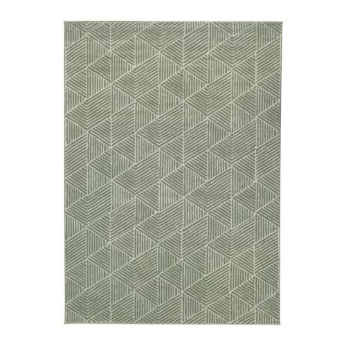 stenlille tapis poil court gris vert
