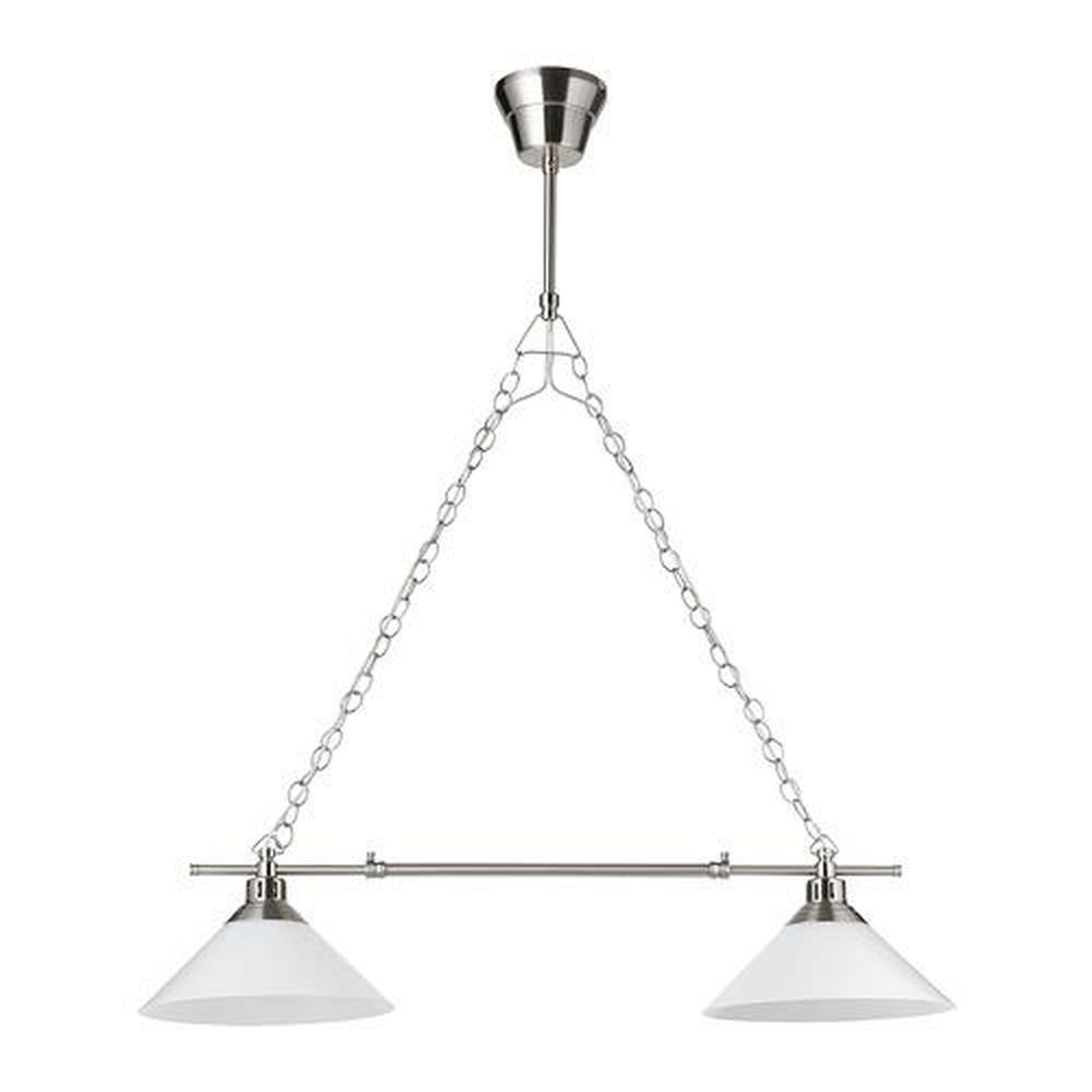 kroby lampe a suspension double nickelee verre