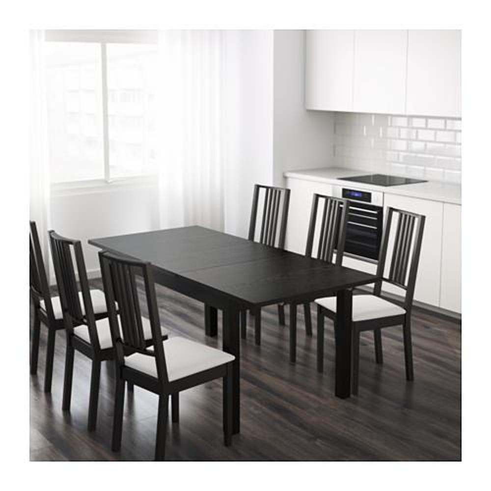 bjursta table a rallonges marron noir