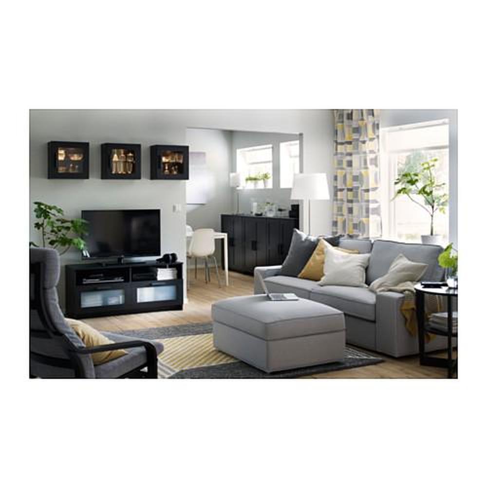 brimnes meuble tele noir 120x41x53 cm