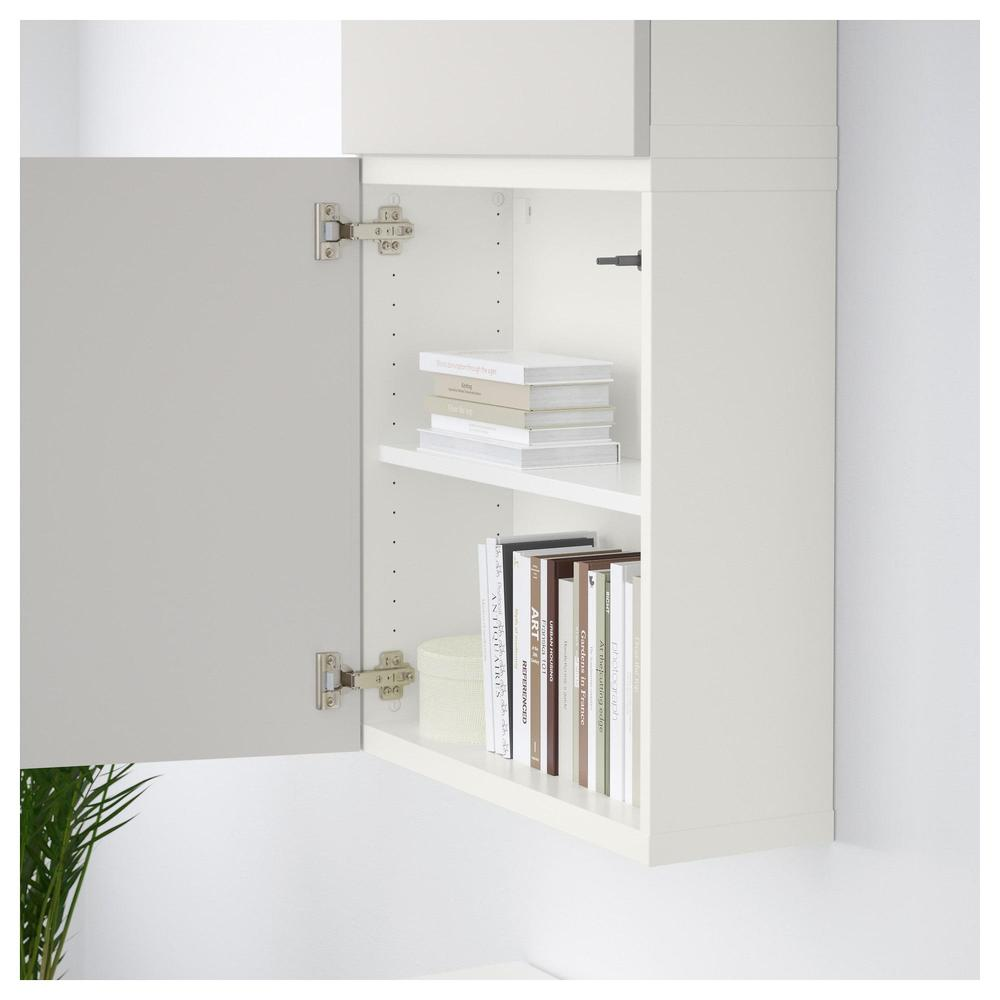 besta armoire murale avec portes 2 blanc gris lappviken