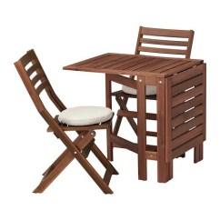 Kitchen Tables At Target Sanding And Restaining Cabinets Applaro 阿普莱诺 桌子 两折叠椅 户外 着褐色漆 弗洛松 杜霍蒙 米黄色 阿普莱诺桌子