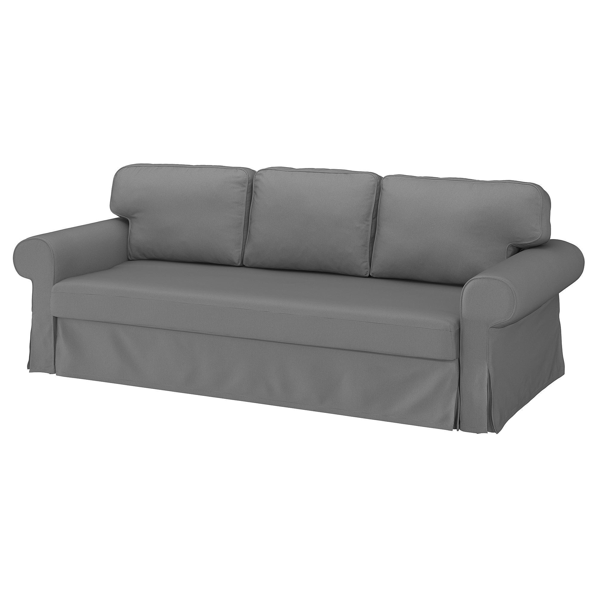 VRETSTORP - 三座位梳化床, Remmarn 淺灰色 | IKEA 香港及澳門