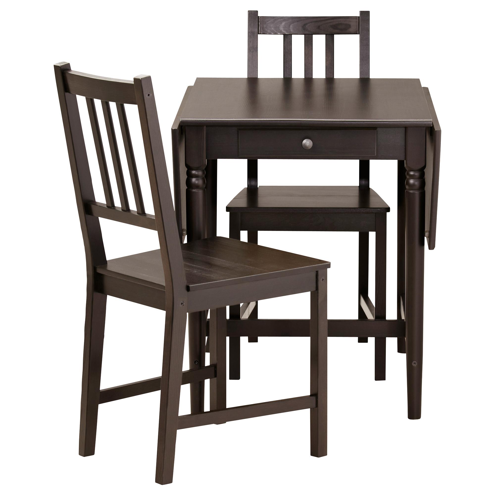 Ingatorp Stefan Table And 2 Chairs Black Brown Brown Black Ikea Hong Kong And Macau
