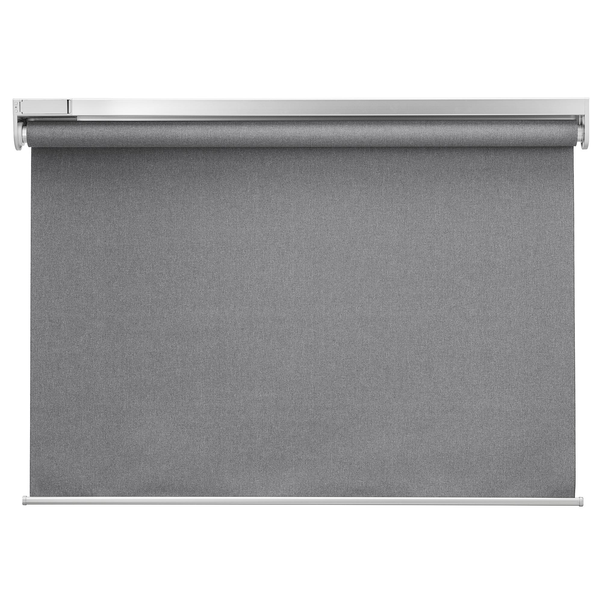 FYRTUR - 遮光捲軸簾, 140x195cm, 無線/電池操作 灰色 | IKEA 香港及澳門