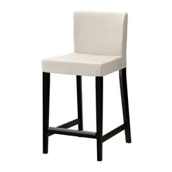 kitchen stools ikea outdoor miami henriksdal bar stool with backrest brown black linneryd natural