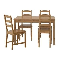 kitchen table and chairs with wheels toddler high chair seat dining sets 4 ikea jokkmokk