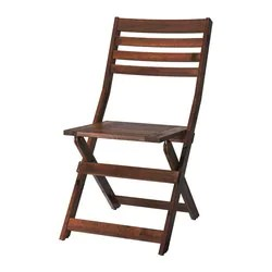 brown wooden folding chairs lounge chair beach towel clips applaro outdoor ikea foldable stained
