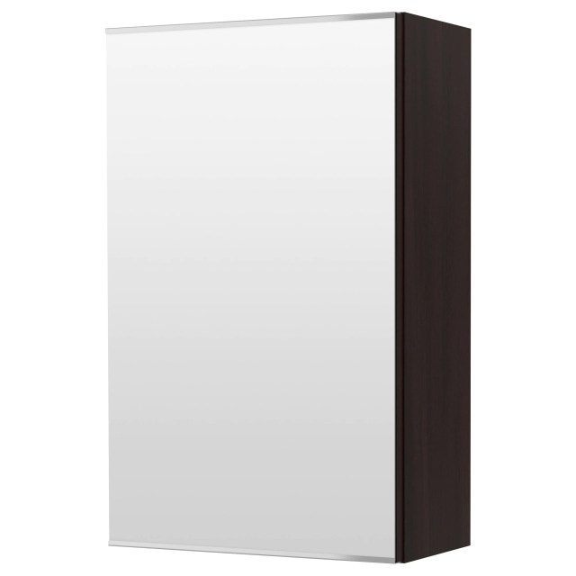 LILL…NGEN Mirror cabinet with 1 door black brown IKEA