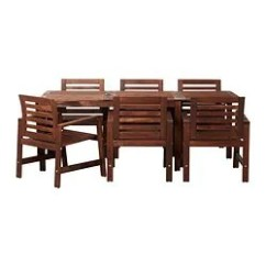 Outdoor Table And Chairs Wood Windsor Arm Dining Furniture Sets Ikea Applaro 6 Armchairs