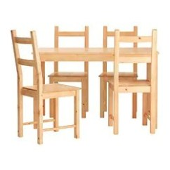Table With Chairs Rubber Caps For Chair Legs Dining Room Sets Ikea Ingo Ivar And 4
