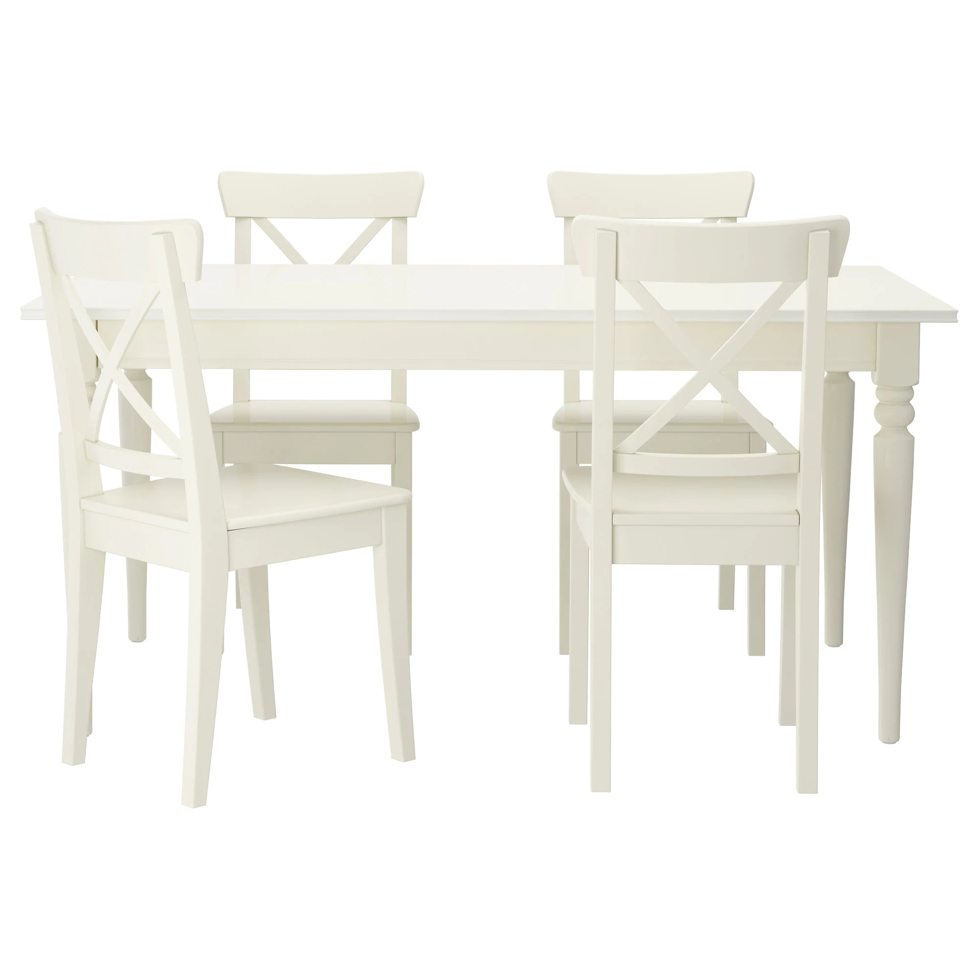 white table chairs high chair toy ingatorp ingolf and 4 ikea feedback