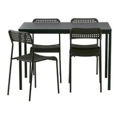 Set Of Chairs Bruno Chair Lift Maintenance Dining Sets With 4 Ikea Tarendo Adde Table And