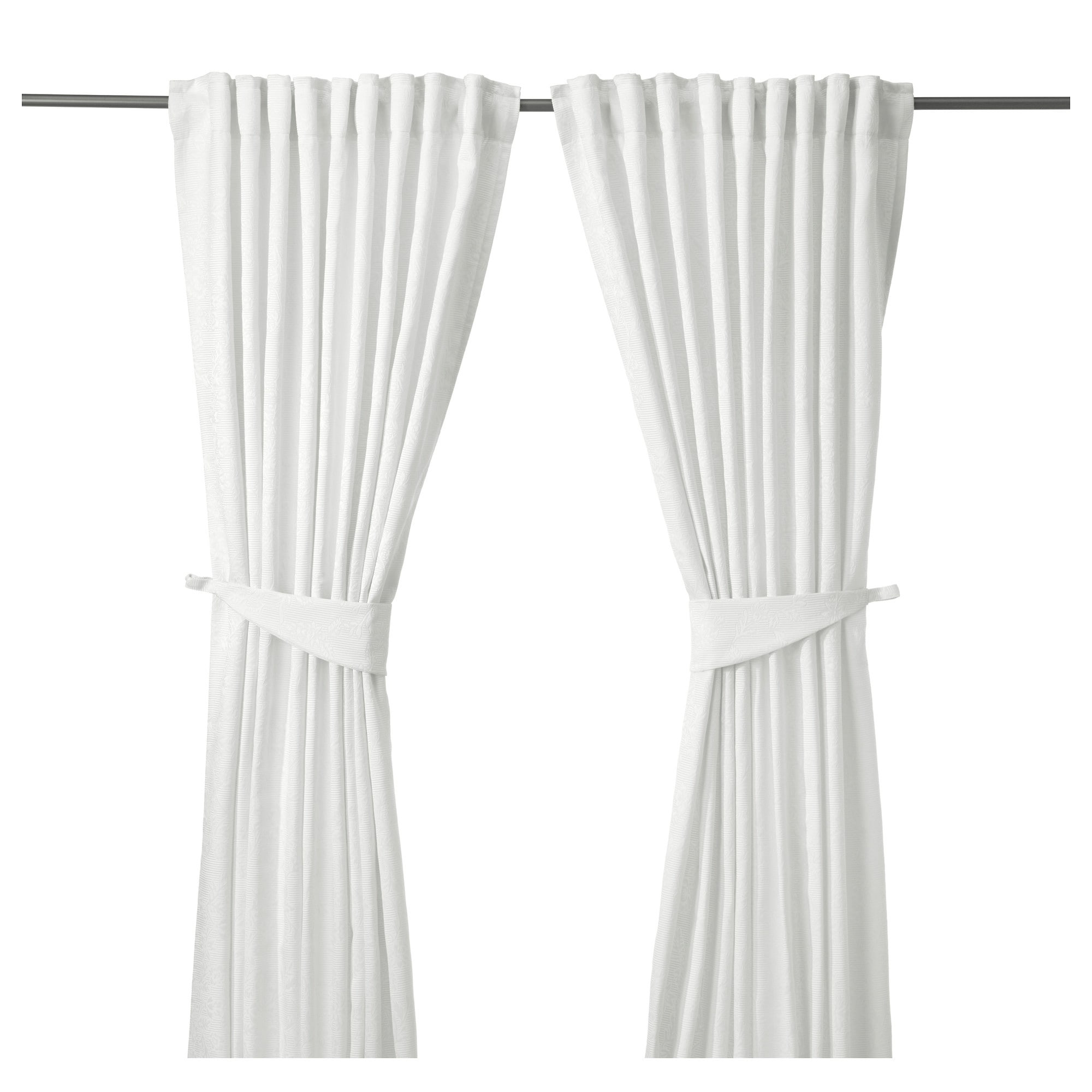 Image result for white tie back curtains