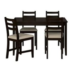 Kitchen Table And Chairs With Wheels Deer Antler Rocking Chair Dining Sets 4 Ikea Lerhamn