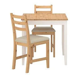 table and 2 chairs cheap hanging chair revit file lerhamn ikea light antique stain vittaryd beige