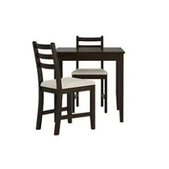2 Chair Kitchen Table Set Faucet Oil Rubbed Bronze Dining Sets Up To Seats Ikea Lerhamn And Chairs