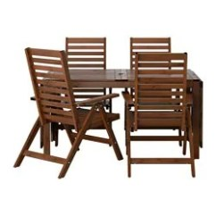 Reclining Patio Chairs And Table Diy Event Chair Covers Dining Sets Ikea Applaro 4 Outdoor