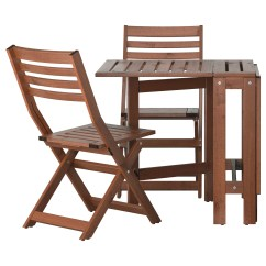 Folding Chairs Outdoor Use Swing Chair Modern Applaro Table And 2 Brown Stained Feedback