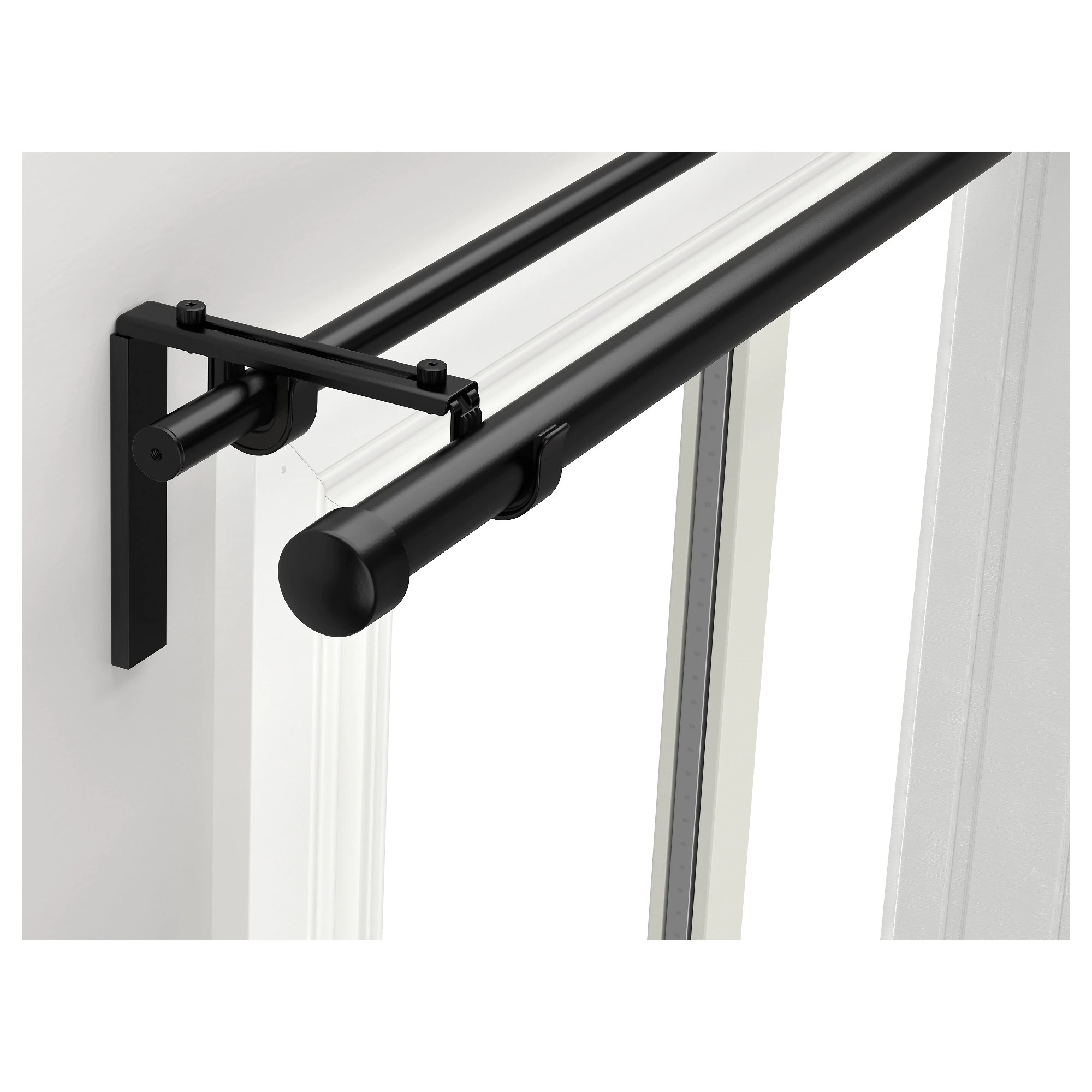 RÄCKA HUGAD Double Curtain Rod Combination IKEA