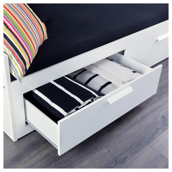 Brimnes Daybed With 2 Drawers Mattresses White Meistervik Firm Ikea