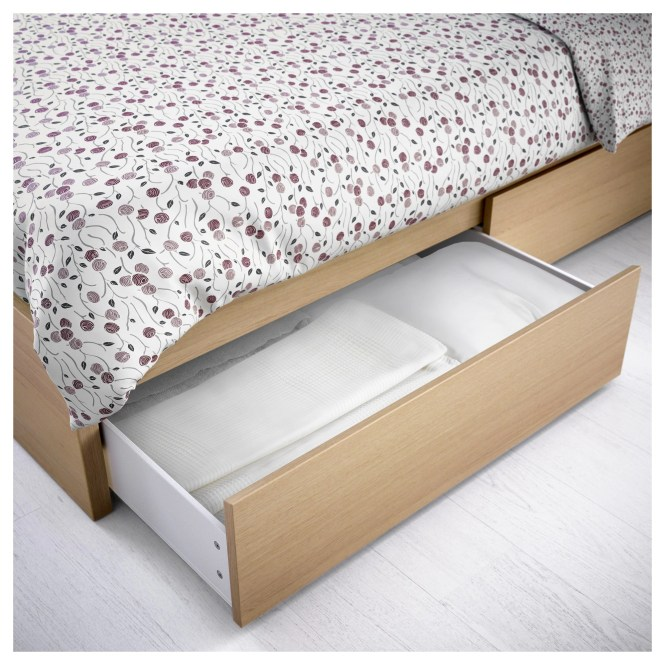 Malm Underbed Storage Box For High Bed Black Brown Full Double Twin Single Ikea