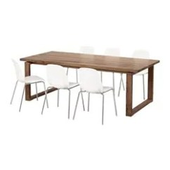 Table And 6 Chairs Kitchen Island With Dining Sets Up To Seats Ikea Morbylanga Leifarne