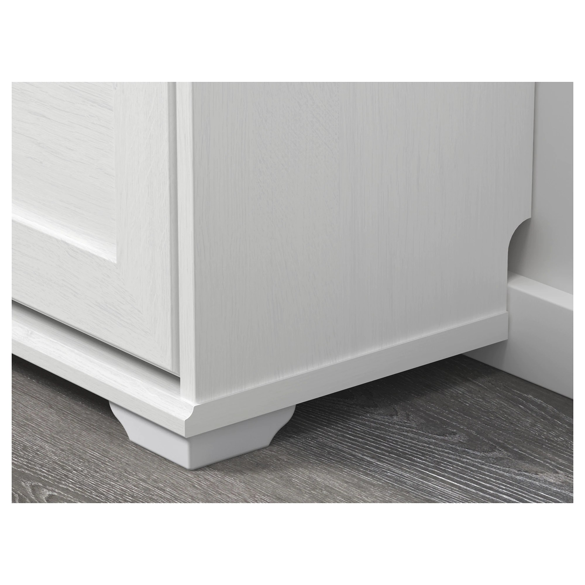 Armoire à Chaussures 3 Casiers Brusali Blanc
