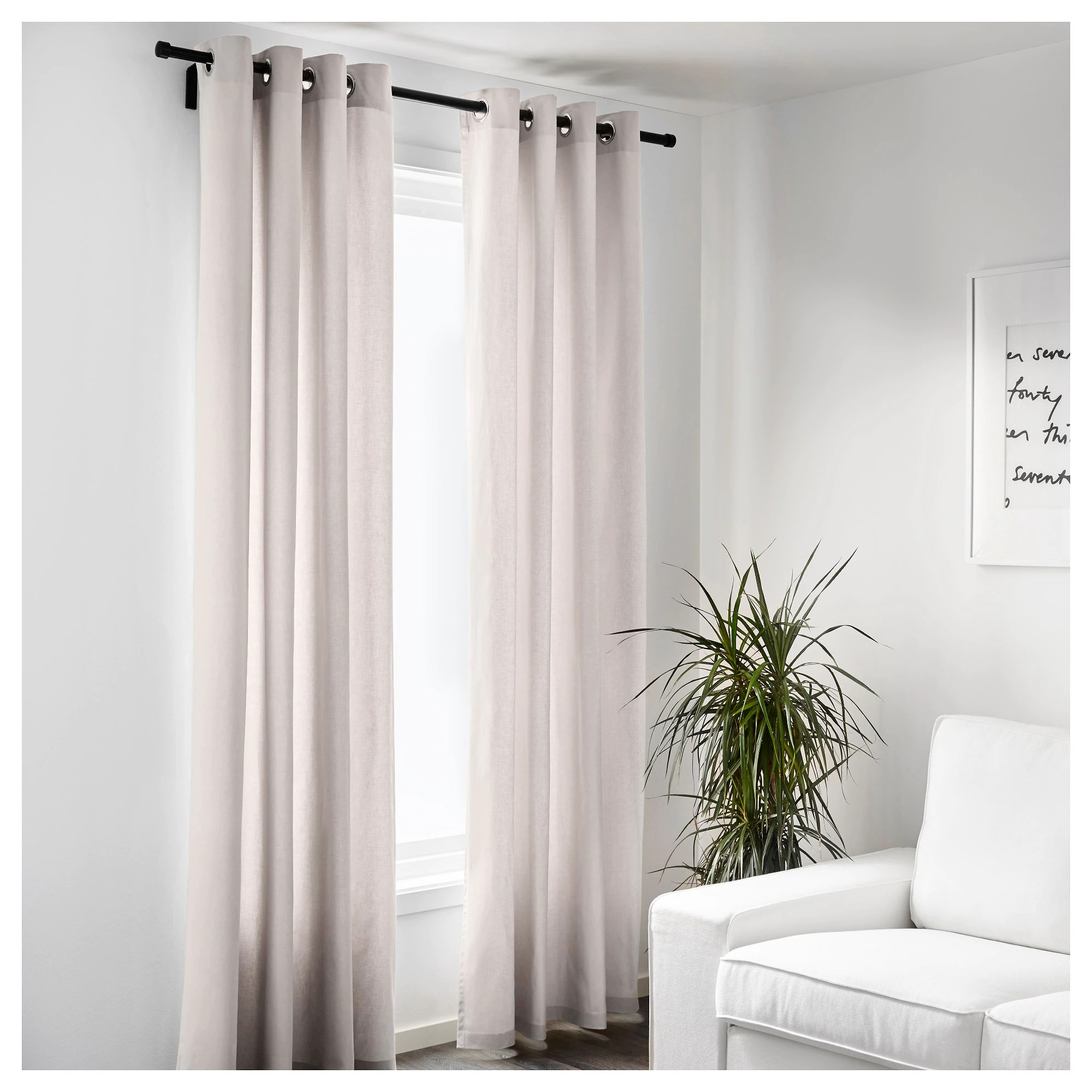 "MERETE Curtains 1 Pair 57x98 "" IKEA"