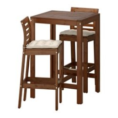 Outdoor Bar Table And Chairs Mainstays Rocking Chair Black Applaro 2 Stools Brown Stained Froson Duvholmen Dark Gray Ikea