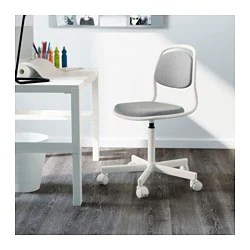 home desk chairs ball chair base only orfjall child s ikea white vissle light gray