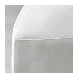 ikea linen chair covers french provincial couch and henriksdal cover long blekinge white