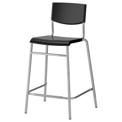 Chair Stool Black Aluminum Folding Lawn Stig Bar With Backrest 24 3 4 Ikea Feedback