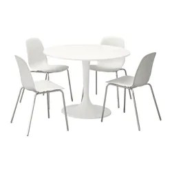 table with chairs chair cover recliner dining sets 4 ikea docksta leifarne and