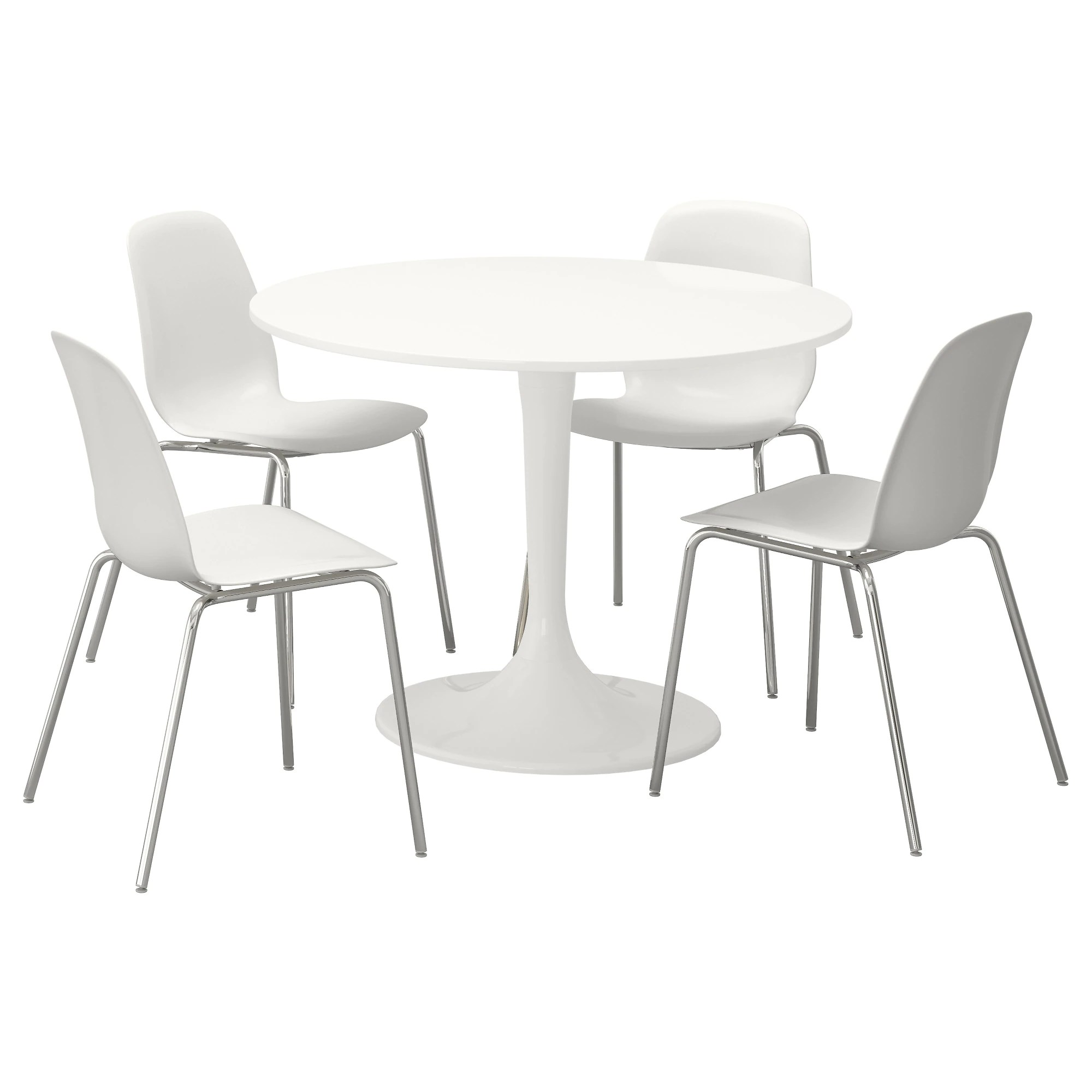 white table chairs leather dining with nailheads docksta leifarne and 4 ikea feedback