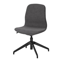 ikea office chair white cover rentals in new orleans desk chairs langfjall swivel gunnared dark gray