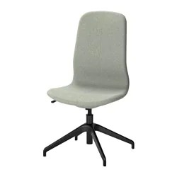swivel office chair with wheels seat post bushing desk chairs ikea langfjall gunnared light green