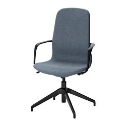 ikea rolling chair best back support for office chairs langfjall swivel gunnared blue