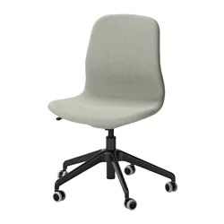 ikea office chair white best stadium chairs with arms desk langfjall swivel gunnared light green
