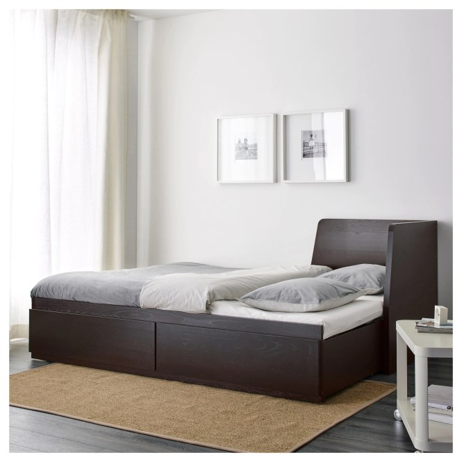 Flekke Daybed With 2 Drawers Mattresses Black Brown Minnesund Firm Ikea