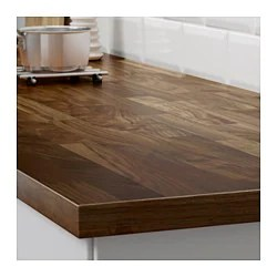 ikea kitchen counter two person table karlby countertop for island walnut family