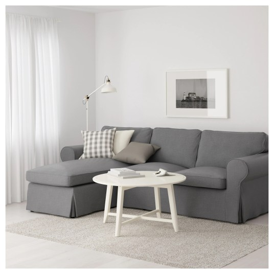 I'm going to replace my white ikea couch cover with this gray one. CentsibleChateau.com