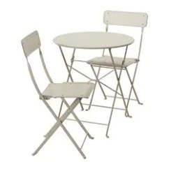 Table And Chairs With Bench Folding Chair That Fits In Your Pocket Outdoor Dining Furniture Sets Ikea Saltholmen 2