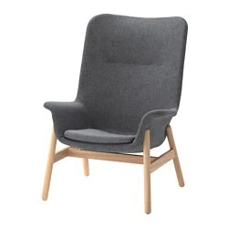 ikea arm chairs desk chair home goods armchairs traditional modern vedbo armchair gunnared dark gray
