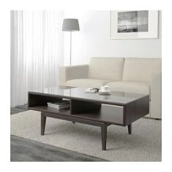 Ikea Living Room Tables Next Black Gloss Furniture Regissor Coffee Table Brown Glass
