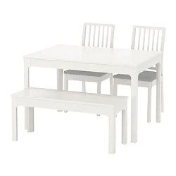 dining set with bench and chairs discount kitchen room sets ikea ekedalen table 2
