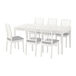 high top table with 6 chairs back jack dining sets up to seats ikea ekedalen and